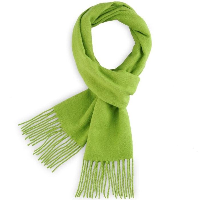 cedb9075d48 Echarpe fely vert uni - fabriqué en france vert Qualicoq