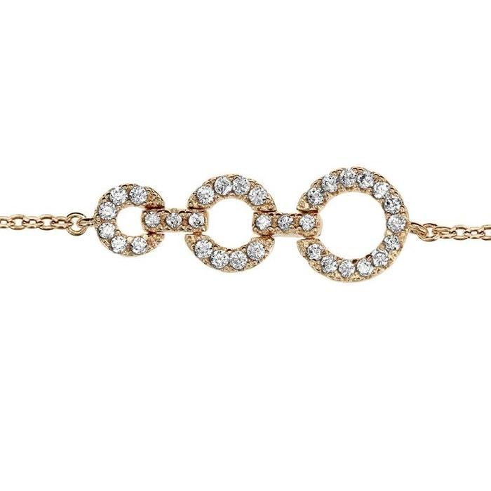 Bracelet longueur réglable: 16 à 18 cm 3 anneaux oxyde de zirconium blanc plaqué or 750 couleur unique So Chic Bijoux | La Redoute Livraison Gratuite Finishline Vente Vente Pas Cher OXNwEYVUvM