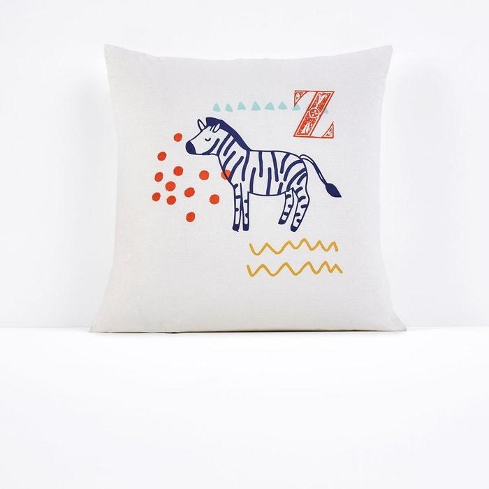 taie d oreiller imprim e animalia blanc multicolore la. Black Bedroom Furniture Sets. Home Design Ideas