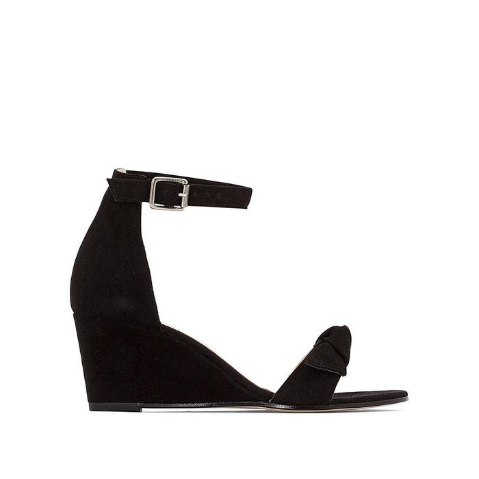 Sandales cuir dugny noir Jonak