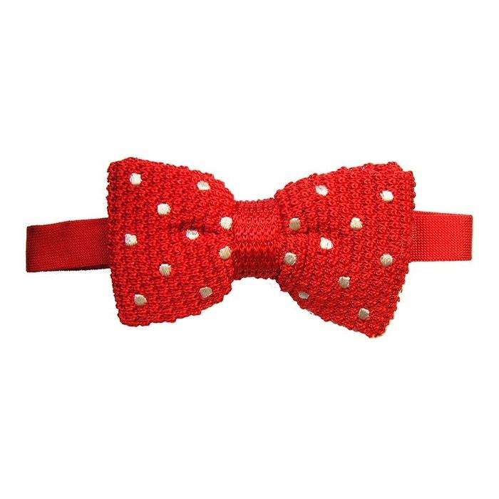 Noeud papillon tricot, soie, rouge à pois blanc rouge Tyler Et Tyler | La Redoute