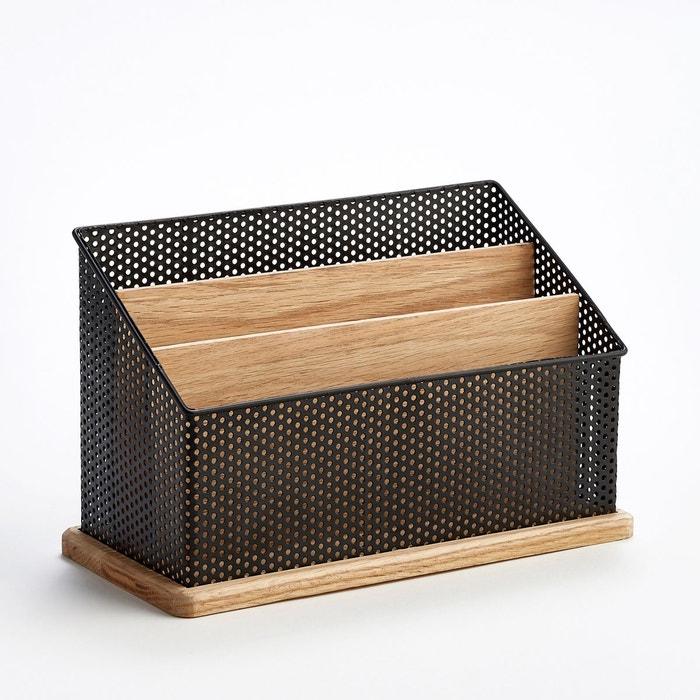 range courrier vertical ordonato m tal noir ch ne am pm la redoute. Black Bedroom Furniture Sets. Home Design Ideas