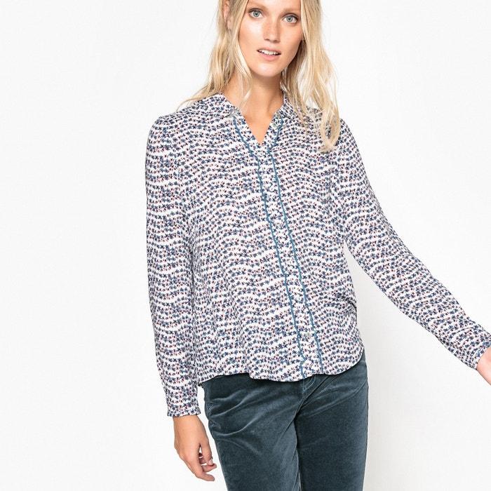 afbeelding Bedrukte blouse met hemdskraag ESPRIT