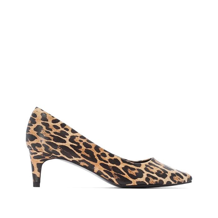 descuento mejor valorado brillo de color nuevo baratas Zapatos de tacón estampados con puntera afilada
