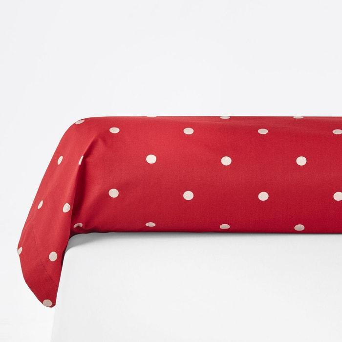 taie de traversin imprim e edelweiss rouge la redoute interieurs la redoute. Black Bedroom Furniture Sets. Home Design Ideas