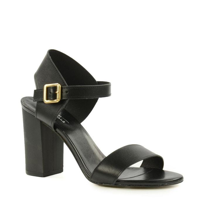 Sandales à talon cubain noires noir Sacha