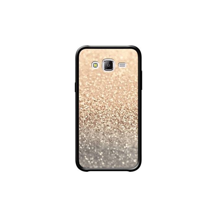 coque pour samsung galaxy j5 c t s silicone noir brillant gatsby gold glitter par monika strigel. Black Bedroom Furniture Sets. Home Design Ideas