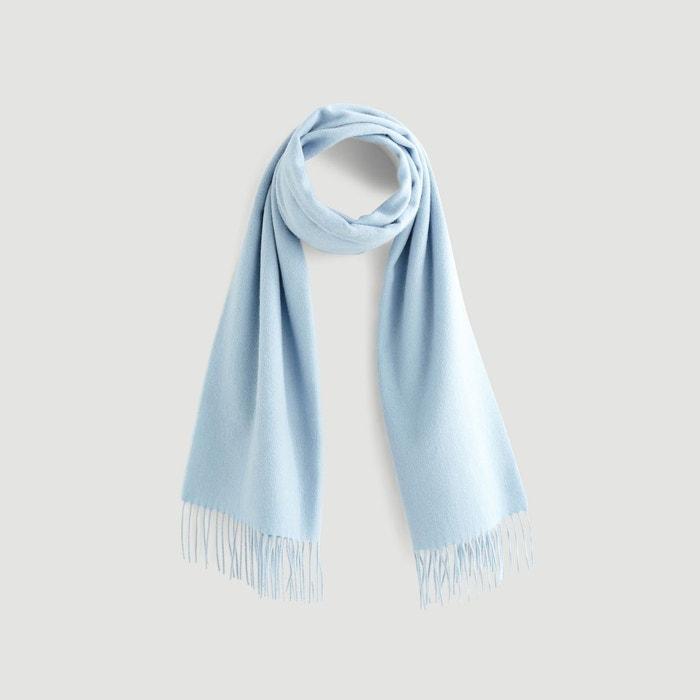 Echarpe en laine torsadée bleu Monoprix   La Redoute 637074e4b09