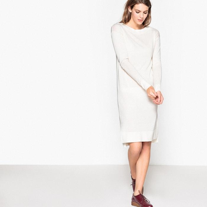 Image Abito con collo a barchetta, spacco laterale, in lana La Redoute Collections