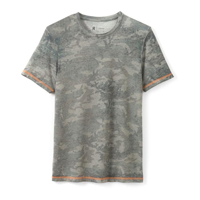 Image T-shirt imprimé camouflage col rond La Redoute Collections