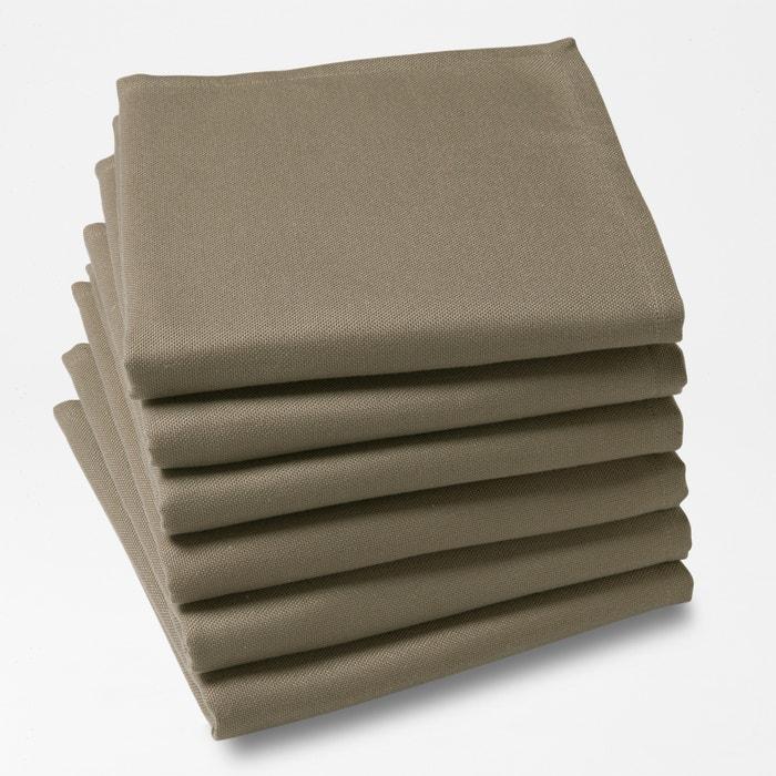 SCENARIO Pack of 6 Plain Polyester Napkins  La Redoute Interieurs image 0