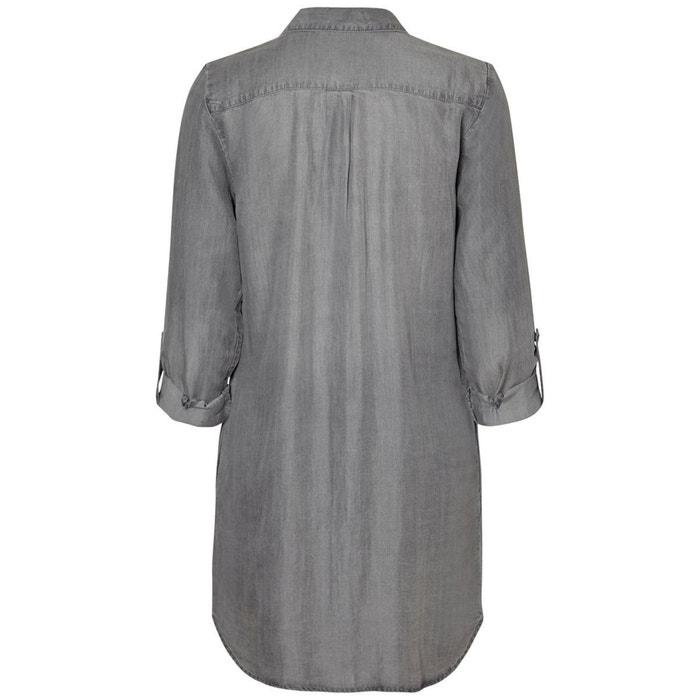 larga Vestido MODA manga recto con semilargo VERO SaOxnO