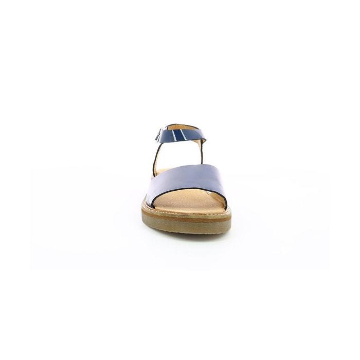 Sandales cuir femme europea vernis marine Kickers