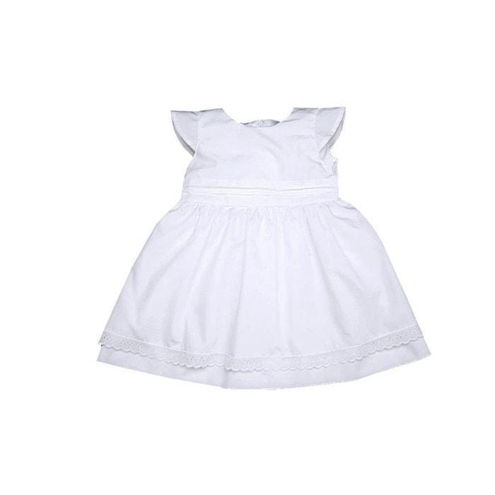 tenue bapt me fille robe bapt me et c r monie coton blanc blanc poussin bleu la redoute. Black Bedroom Furniture Sets. Home Design Ideas