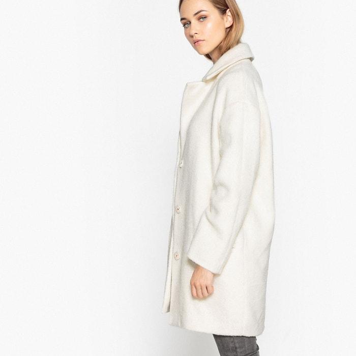 Manteau coupe ample, effet poilu en laine mélangée gris La Redoute ... 69833a008b34