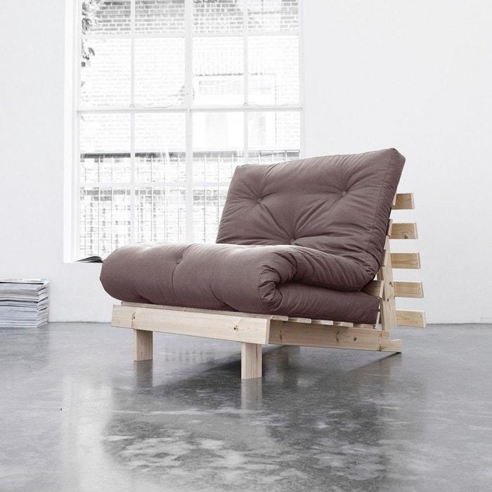 pack matelas futon taupe coton structure en bois naturel taupe terre de nuit la redoute. Black Bedroom Furniture Sets. Home Design Ideas