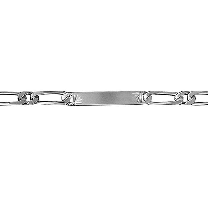 Bracelet 18 cm identité gourmette 1 + 1 largeur 6 mm diamantée etoile argent 925 couleur unique So Chic Bijoux | La Redoute Le Plus Grand Fournisseur Pour Pas Cher À Vendre PkfojCLu