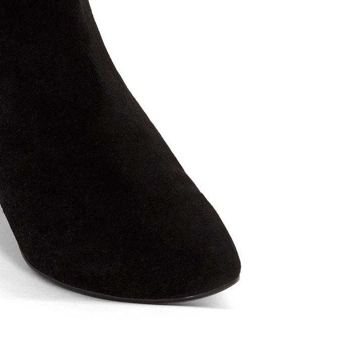 Boots cuir à talon darrus exclusivité la redoute noir Jonak