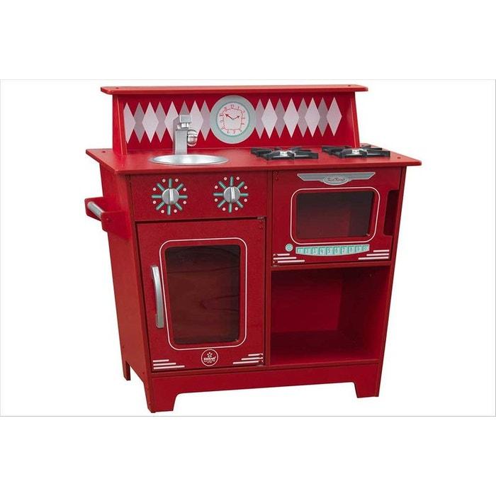 petite cuisine rouge en bois kidkraft rouge kidkraft la redoute. Black Bedroom Furniture Sets. Home Design Ideas