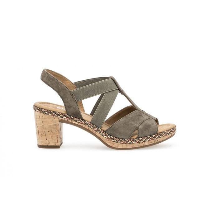 Sandales vertes vert Gabor