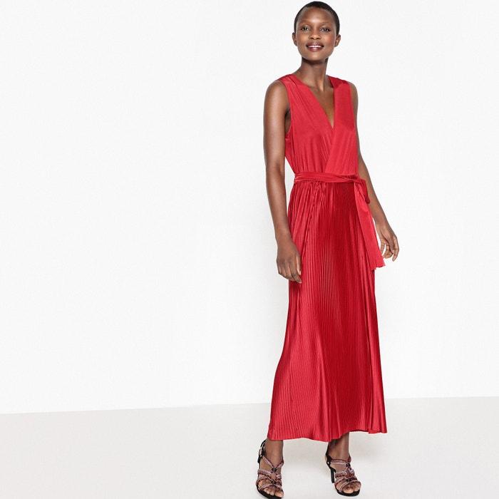 robe longue sans manches la redoute collections rouge la redoute. Black Bedroom Furniture Sets. Home Design Ideas
