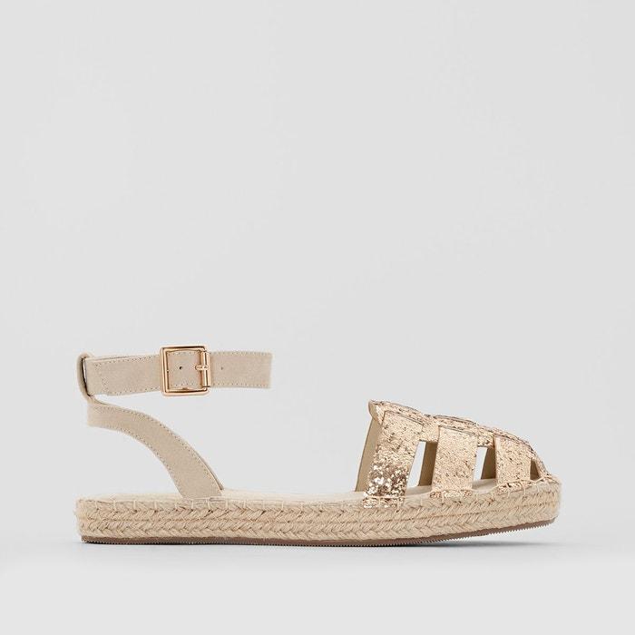 Sandales paillettes dorées La Redoute Collections