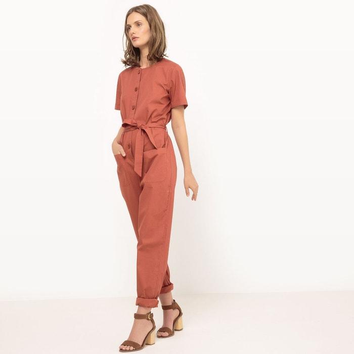 Combinaison pantalon, ceinturée, unie La Redoute Collections