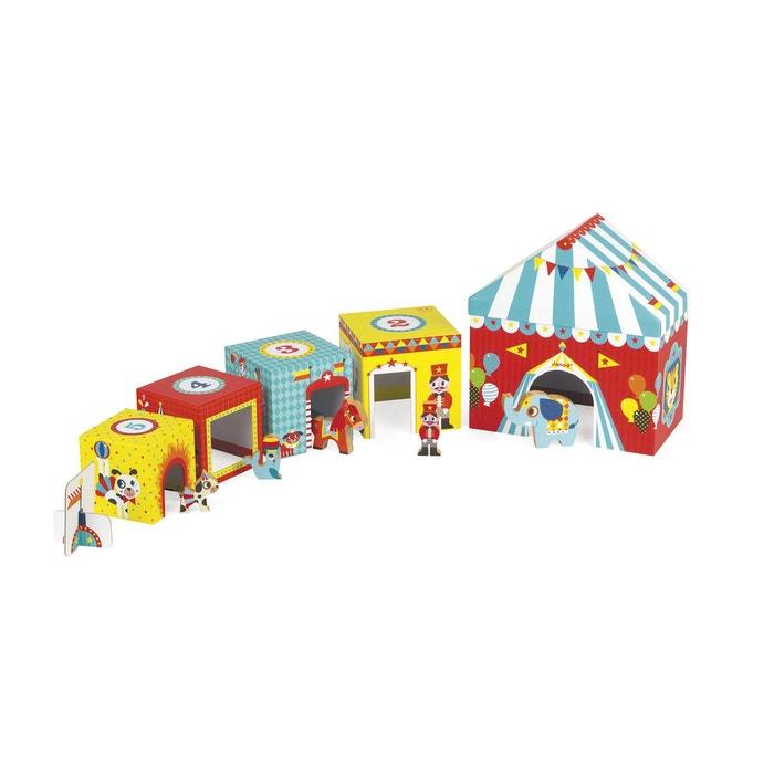 Cubes à empiler : multikub cirque multicolore  JANOD image 0
