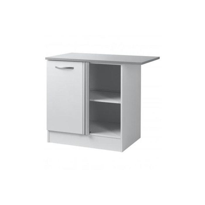 Element de bas de cuisine d 39 angle blanc blanc declikdeco - Element de cuisine d angle ...
