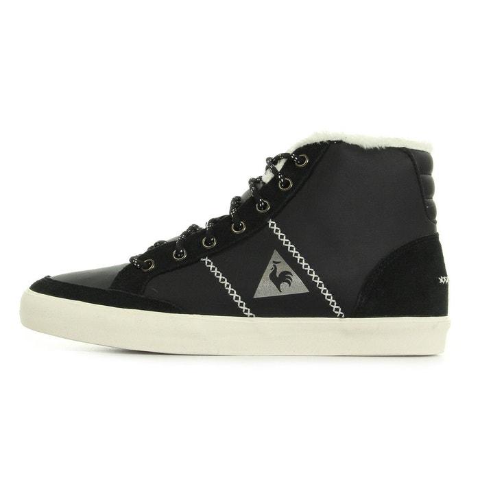Mont charlety syn leather noir, blanc et argent Le Coq Sportif