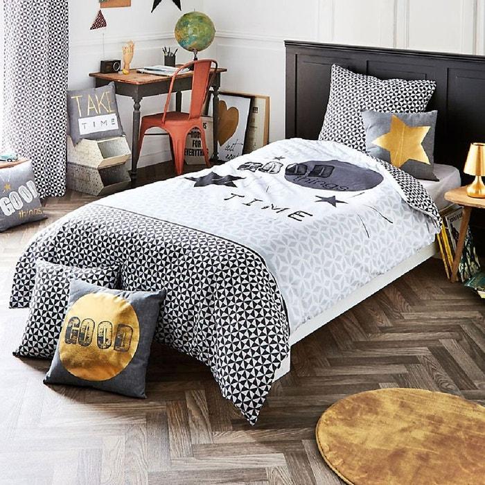 Parure de lit good thing 140 x 200 cm couleur unique lefranc bourgeois la r - La redoute parure de lit ...