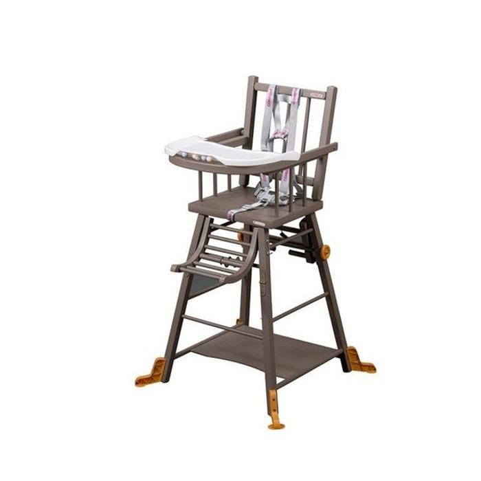 chaise haute marcel transformable barreaux laqu e bleu combelle combelle la redoute. Black Bedroom Furniture Sets. Home Design Ideas
