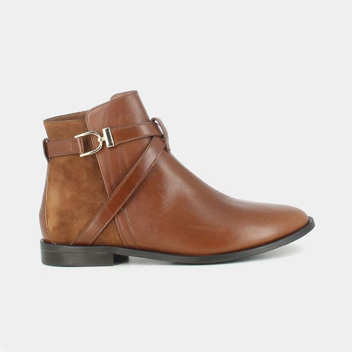 Boots cuir dilling  cognac Jonak  La Redoute