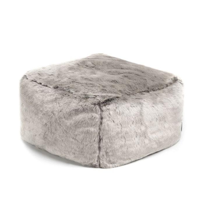 tabouret de luxe en fausse fourrure tabouret pouf icon la redoute. Black Bedroom Furniture Sets. Home Design Ideas