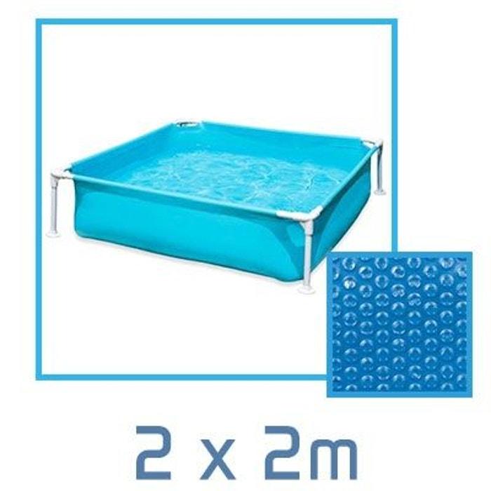 b che bulle carr e 2 x 2m 180 microns pour piscine intex. Black Bedroom Furniture Sets. Home Design Ideas