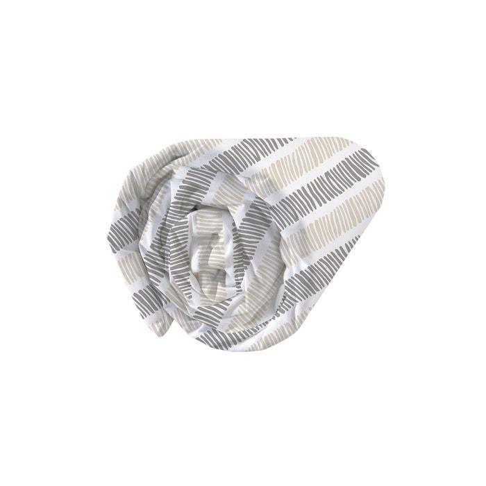 drap housse imprim fantaisie 100 coton sable blush matt et rose la redoute. Black Bedroom Furniture Sets. Home Design Ideas