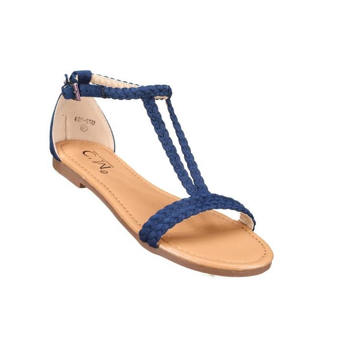 57909deb3b02b3 Sandales à tresses bleu Leader Mode   La Redoute