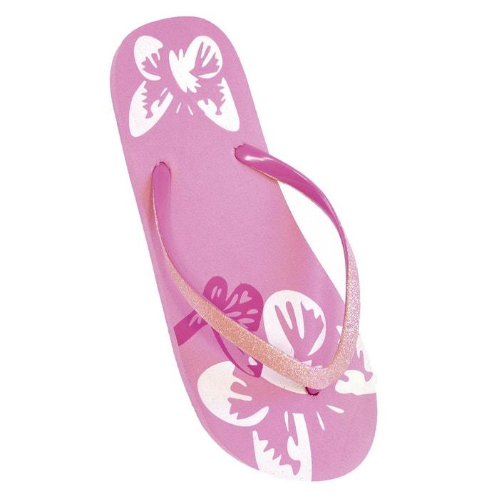 Tongs  à paillettes et motif fleurs Floso