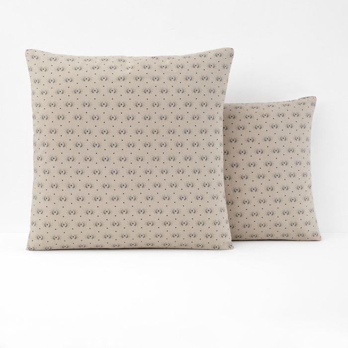 Federa per guanciale fantasia in lino lavato TERRI  La Redoute Interieurs image 0