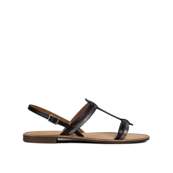 ee597d15ab7a90 Sandales respirantes en cuir sozy noir Geox | La Redoute