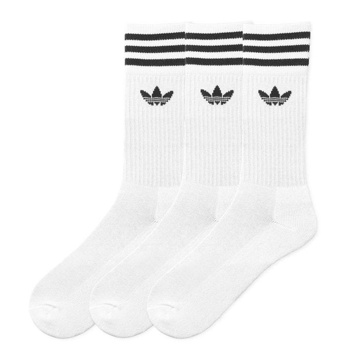 d5bdf97480a Chaussettes hautes (lot de 3 paires) blanc Adidas Originals