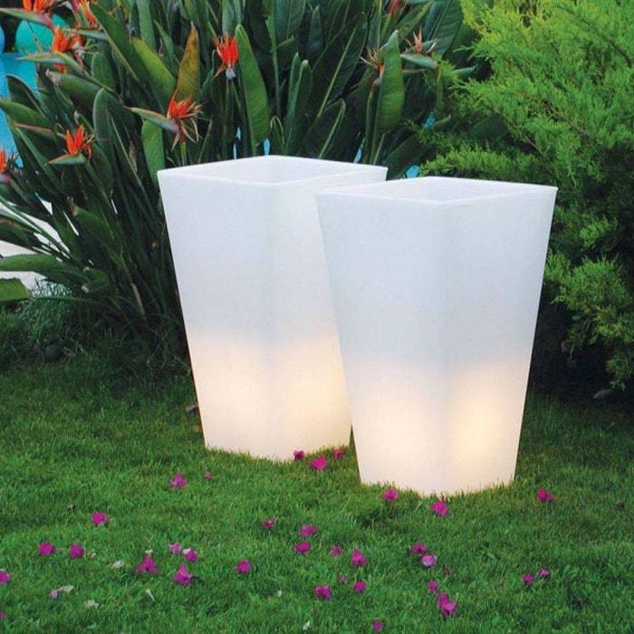 Y pot light pot lumineux d 39 exterieur h74cm et l43cm for Pot exterieur couleur