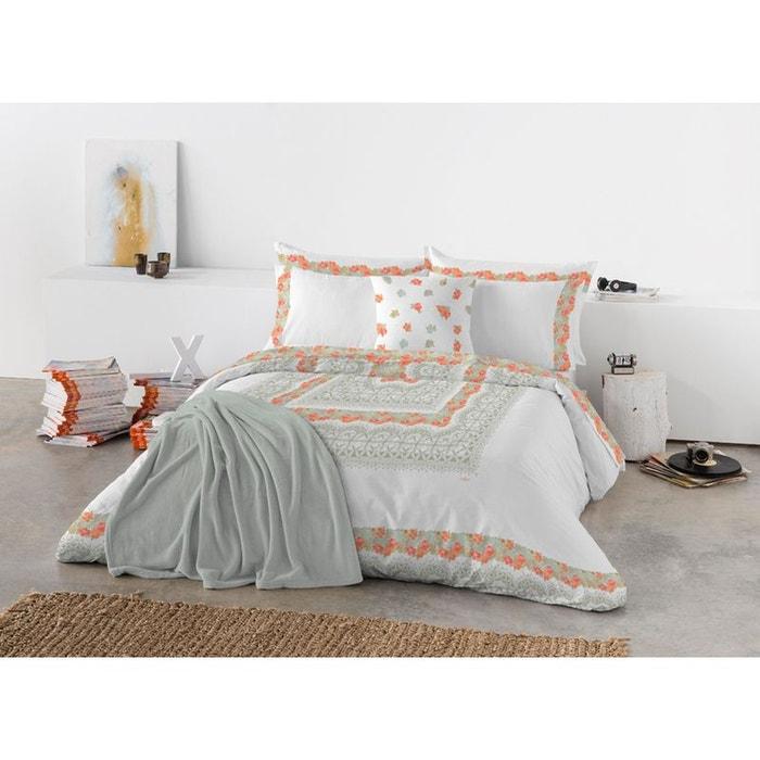 housse de couette dentelle floral orange derhy la redoute. Black Bedroom Furniture Sets. Home Design Ideas