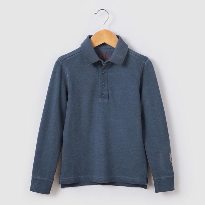 Image Long-Sleeved Polo Shirt, 3-12 Yrs abcd'R