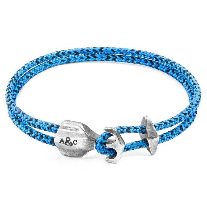 Bracelet ancre delta argenté et corde bleu Anchor & Crew | La Redoute Sneakernews En Ligne EjvgrF3