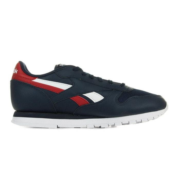 Classic leather sc split bleu marine/rouge/blanc Reebok