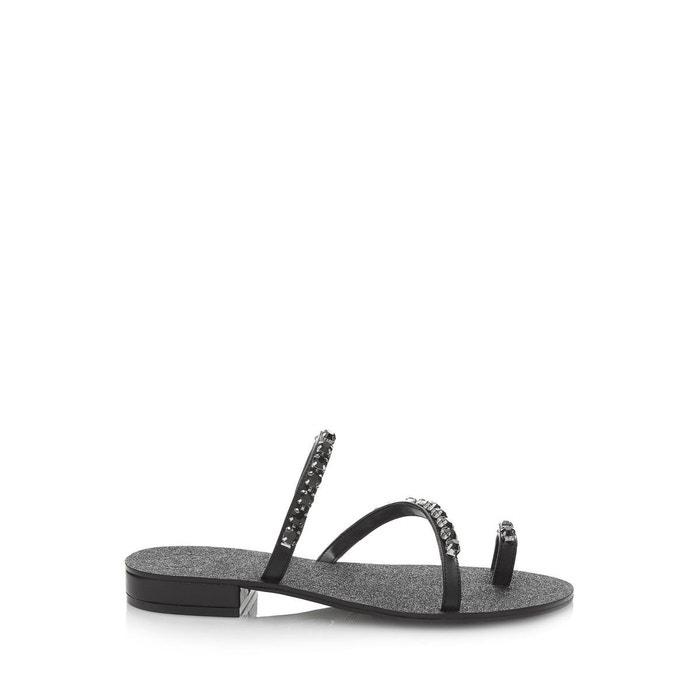 Sandales fortina applications bijou noir Guess