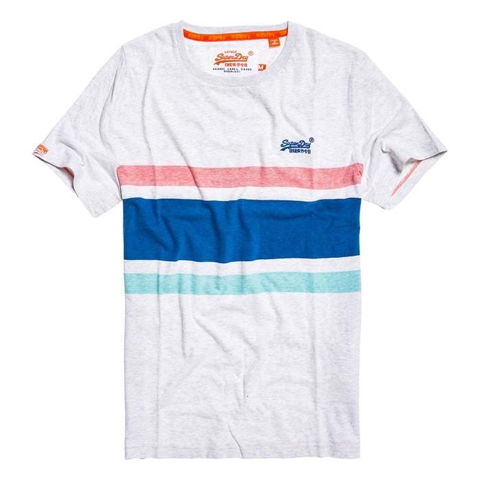 cuello de Camiseta rayas a manga SUPERDRY redondo con corta vPqZ1