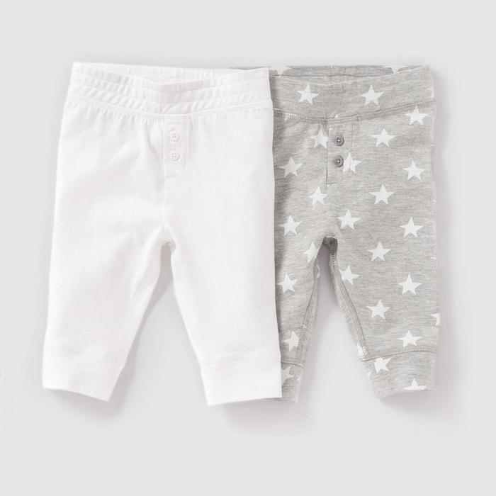 Leggings em algodão, 0 meses-2 anos (lote de 2) R essentiel