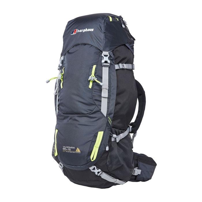 Berghaus - Wilderness 65+15 - Sac à dos de trekking taille 65 l, noir/gris